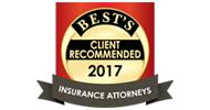 推荐保险律师,名列AM保险专业人士最佳目录
