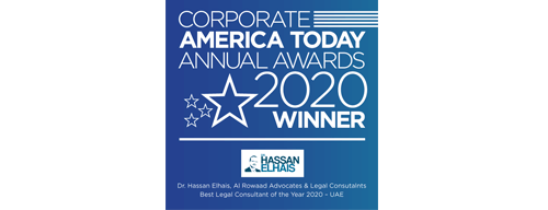 Best Legal Consultant of the Year 2020 - UAE